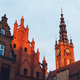 Old Town buildings in Gdansk during sunrise. - PhotoDune Item for Sale