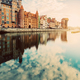 Old building in Old Town, Gdansk, and Motlawa river - PhotoDune Item for Sale