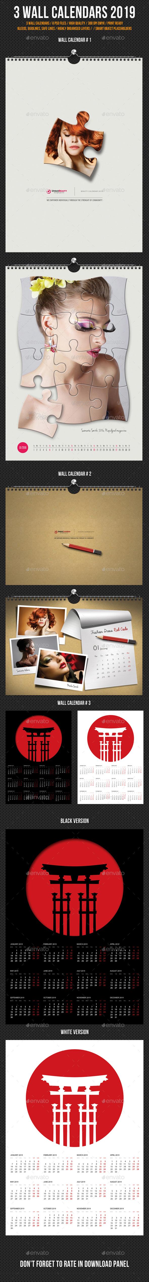 Wall Calendars 2019 Bundle V11 - Calendars Stationery