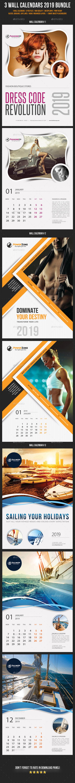 Wall Calendars 2019 Bundle V05 - Calendars Stationery