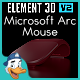 Microsoft Surface Arc Mouse for Element 3D - 3DOcean Item for Sale