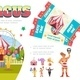 Flat Circus Elements Composition - GraphicRiver Item for Sale