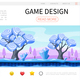 Cartoon Game Design Web Page Template
