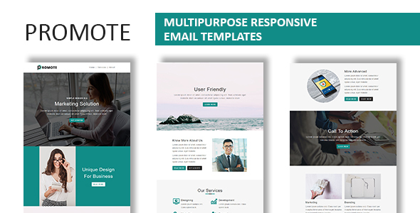 Image of Promote - Multipurpose Responsive Email Template With Online StampReady Builder Access