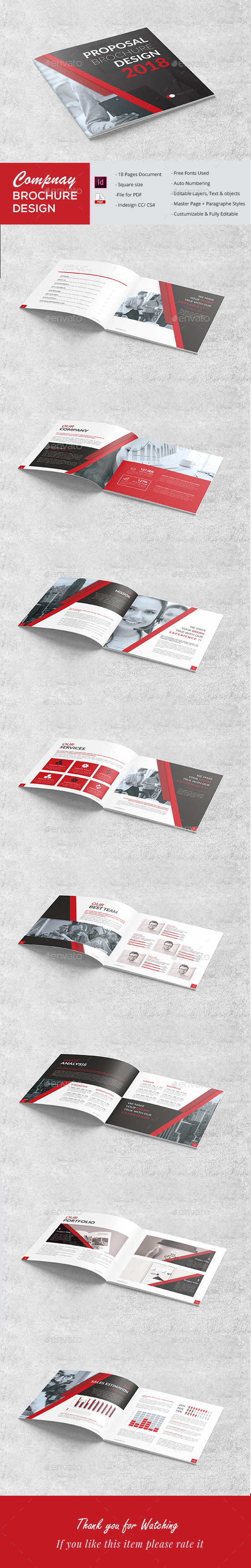 Square Proposal - Brochures Print Templates