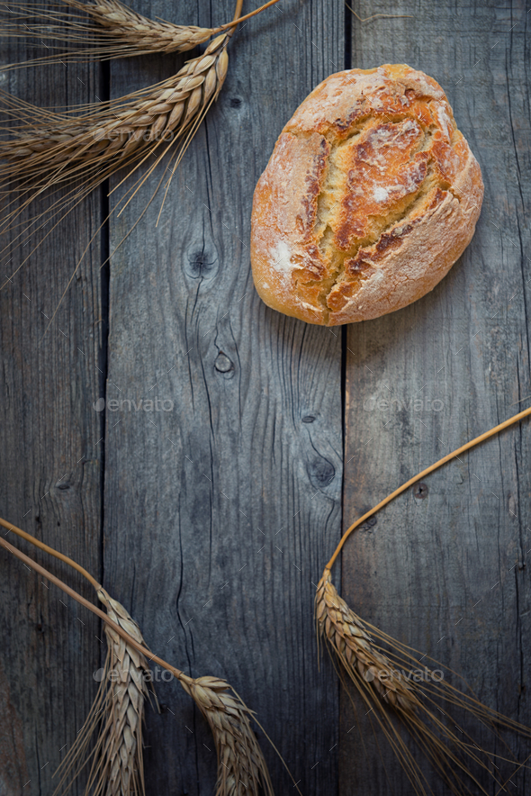 Hard wheat bread - Stock Photo - Images