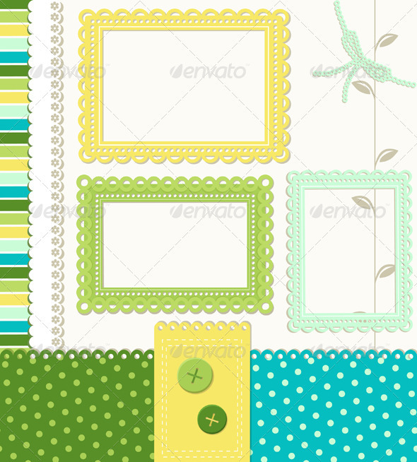 Retro Style Scrapbooking Elements - Decorative Symbols Decorative