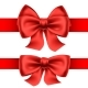 Red Bows with Horizontal Ribbons