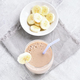 Healthy beverage. Banana smoothie in glass - PhotoDune Item for Sale