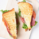 Sandwiches with salami, tomatoes, cucumber and lettuce - PhotoDune Item for Sale