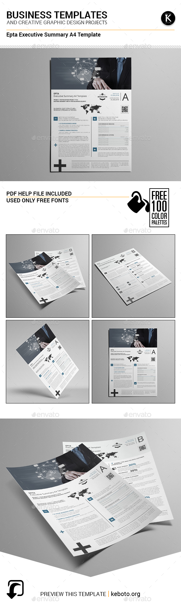 Epta Executive Summary A4 Template - Miscellaneous Print Templates