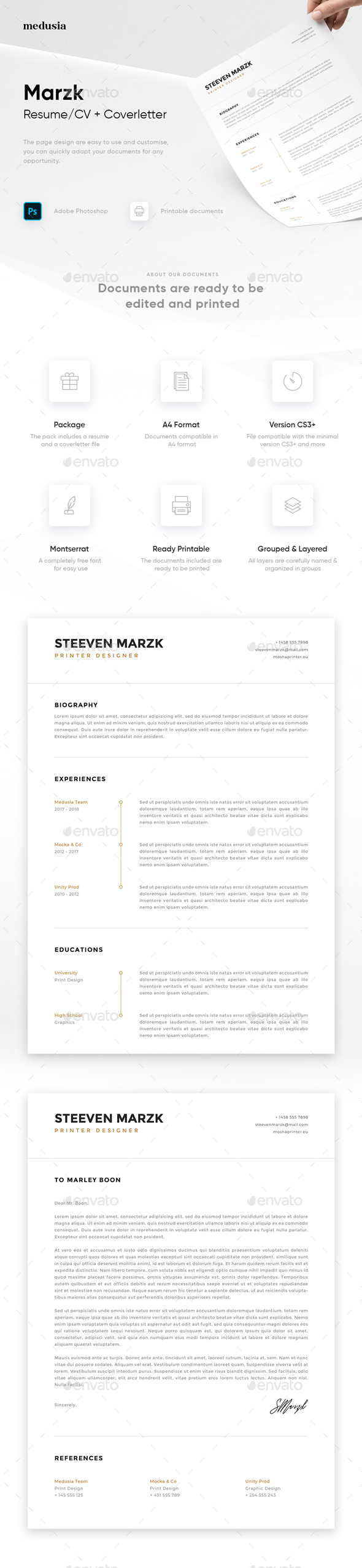 Cover Letter Graphics Designs  Templates From Graphicriver