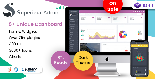 Superieur Admin - Responsive Bootstrap 4 Admin Template Dashboard Web App - Admin Templates Site Templates