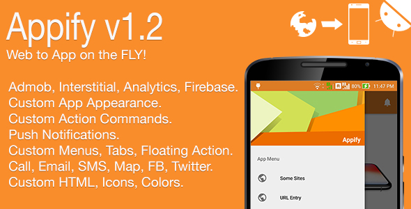 Appify - Web to App on the FLY! Android Full Application v1.2 - CodeCanyon Item for Sale