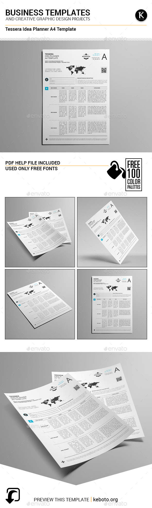 Tessera Idea Planner A4 Template - Miscellaneous Print Templates