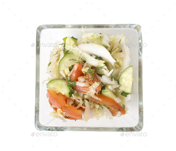 Fresh vegetarian salad. - Stock Photo - Images