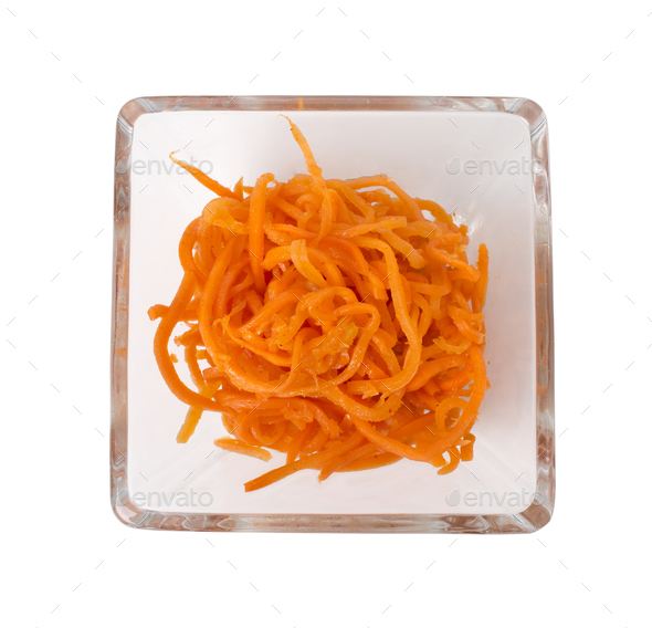 Spicy Korean carrot salad. - Stock Photo - Images