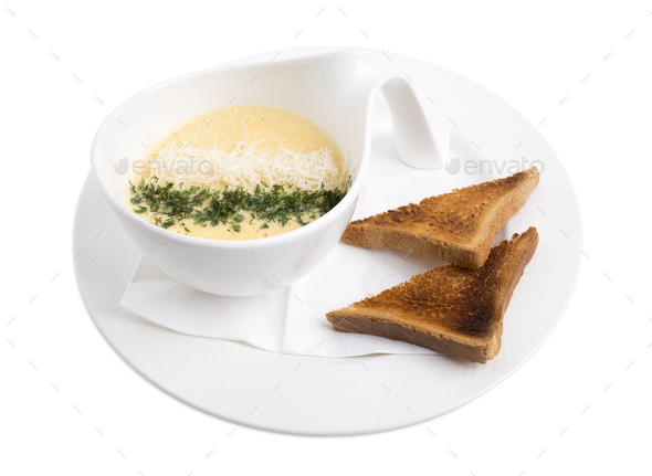 Cheese cream soup. - Stock Photo - Images