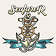 Seafarer Emblem in Tattoo Style - GraphicRiver Item for Sale