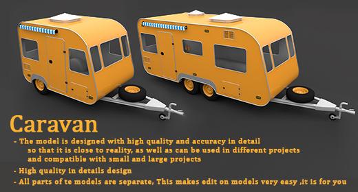 Caravan 3D Models