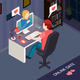 Romantic Date Online Isometric Composition - GraphicRiver Item for Sale