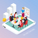 Business Coaching Online Isometric Composition - GraphicRiver Item for Sale