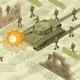 Military Battle Isometric Illustration