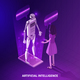 Artificial Intelligence Isometric Composition - GraphicRiver Item for Sale