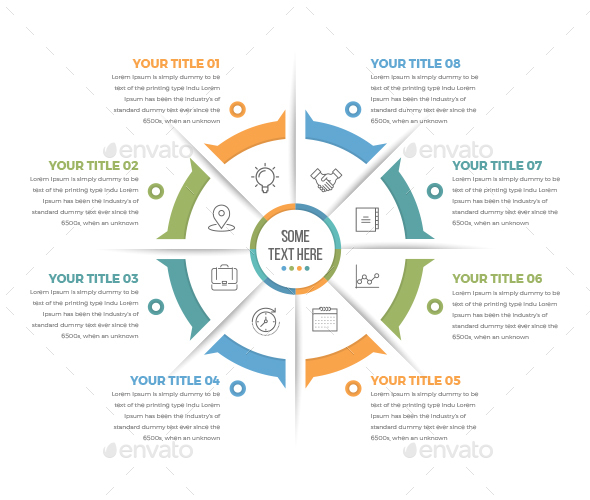 Business Circle Infographics with 08 Steps - Infographics