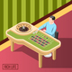 Rich Man In Casino Isometric Background - GraphicRiver Item for Sale