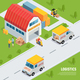 Logistics Isometric Composition - GraphicRiver Item for Sale
