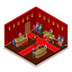 Casino Room Isometric Image