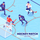 Hockey Match Isometric Illustration