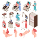Blood Donor Isometric Set - GraphicRiver Item for Sale