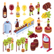 Winery Isometric Set - GraphicRiver Item for Sale