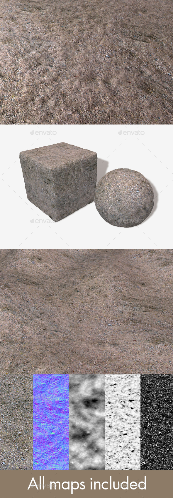 Gravel Seamless Texture - 3DOcean Item for Sale