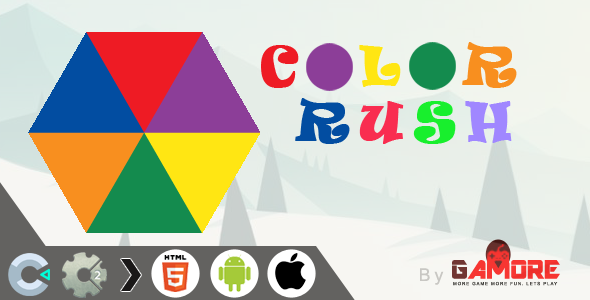 HTML5 Color Rush Game -  CAPX  file for Construct 2 & 3  )            Nulled