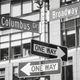 Broadway and Columbus Circle street name signs, New York. - PhotoDune Item for Sale