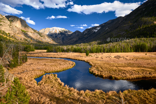 East Inlet Creek in Rocky Mountain National Park - Stock Photo - Images