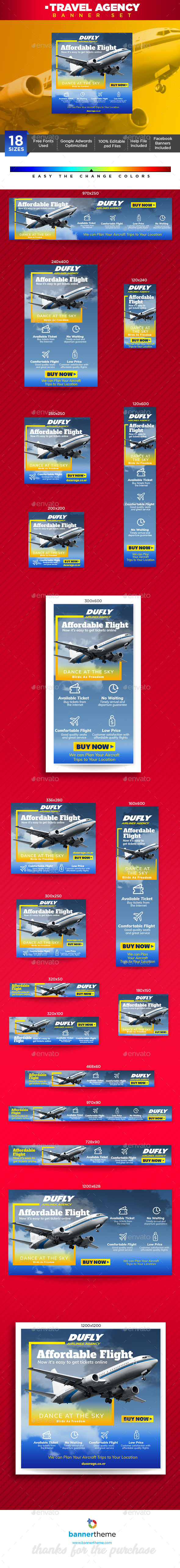 Travel Agency Banner - Banners & Ads Web Elements