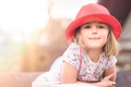Cute little girl with a red hat - PhotoDune Item for Sale
