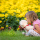 Adorable girl kissing her favourite teddy bear - PhotoDune Item for Sale