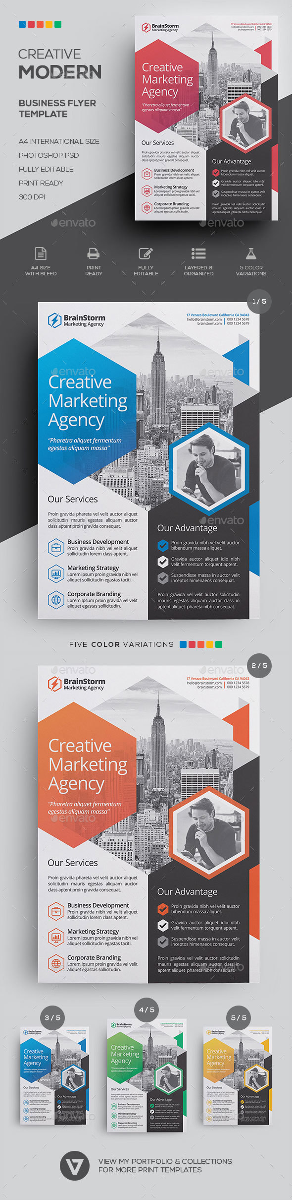 Business flyer template by verazo graphicriver business flyer template corporate flyers wajeb Image collections