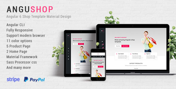 Angushop - Angular 6 Shop Template Material Design - CodeCanyon Item for Sale
