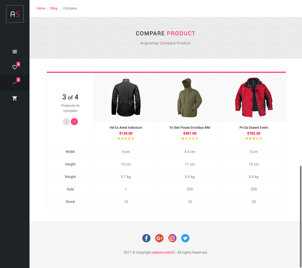 Angushop - Angular 8 Shop Template Material Design