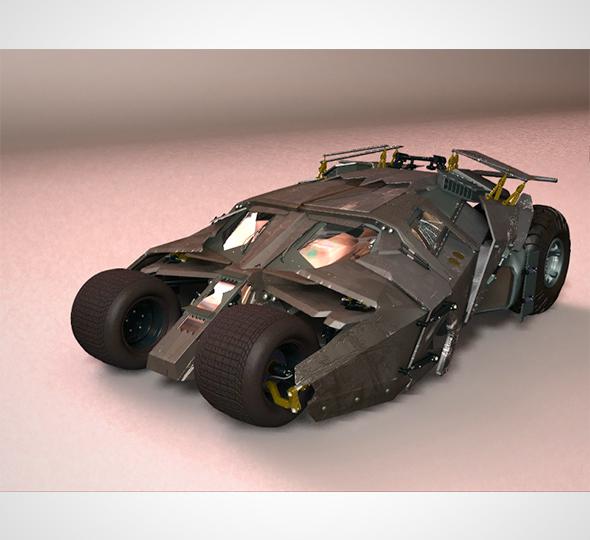 Batmobile The Tumbler - 3DOcean Item for Sale