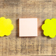 Sticky colorful notes in flower and square shapes, isolated, banner - PhotoDune Item for Sale