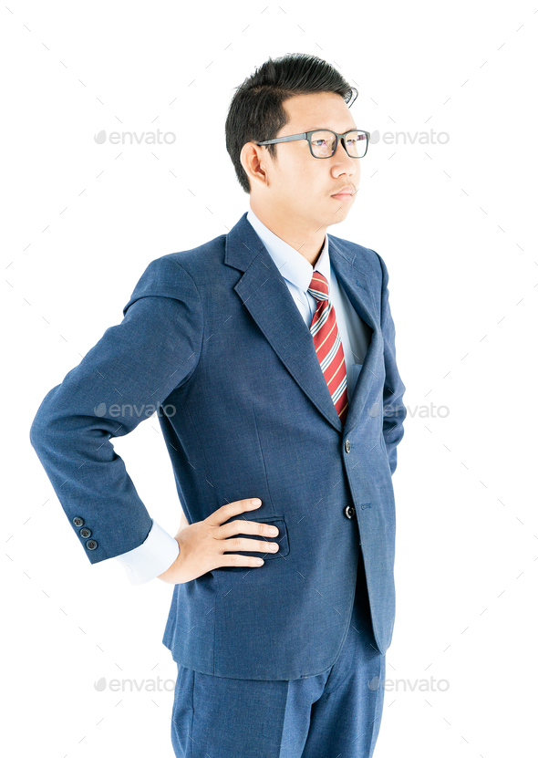 Businessman portrait in suit and wear glasses-7 - Stock Photo - Images