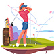 Male Golfer Playing Golf - GraphicRiver Item for Sale