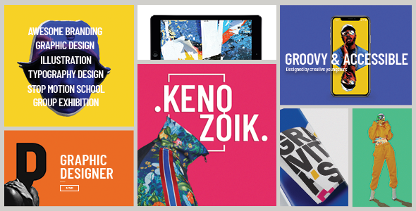 Image of Kenozoik - A Vibrant Portfolio Theme for Creatives and Agencies